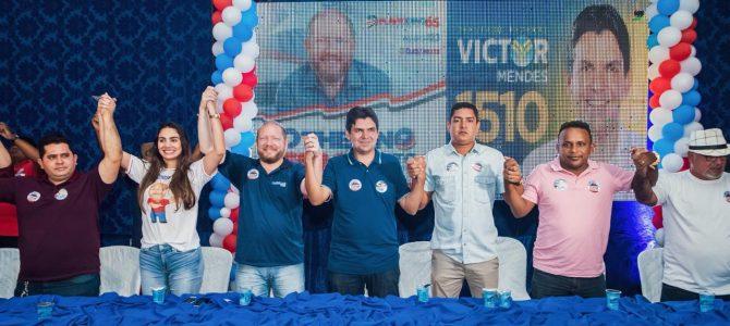 ALIANÇA DE PESO: Victor Mendes declara apoio a Othelino Neto durante evento em Pinheiro
