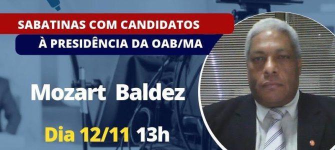 TV ASSEMBLEIA: Ciclo de entrevistas com candidatos à presidência da OAB-MA começa nesta segunda (12), com Mozart Baldez