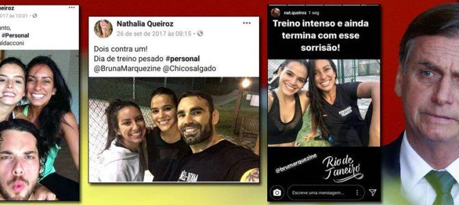 CAIXA 3: Filha de Queiroz, também do esquema Bolsonaro, é personal trainer de 'famosos'